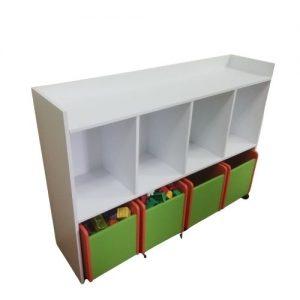 Polica sa kutijama za igračke
